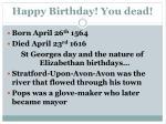 happy birthday you dead