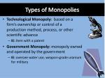 types of monopolies1
