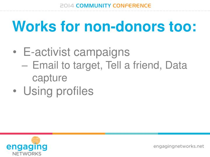 Works for non-donors too: