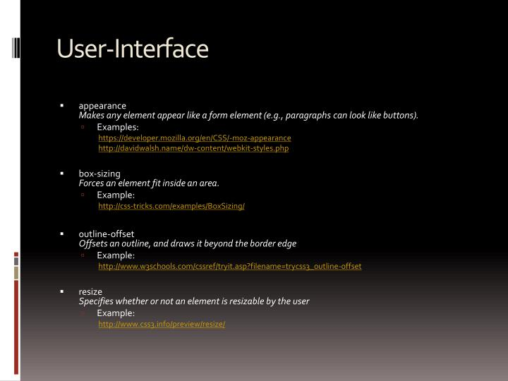 User-Interface