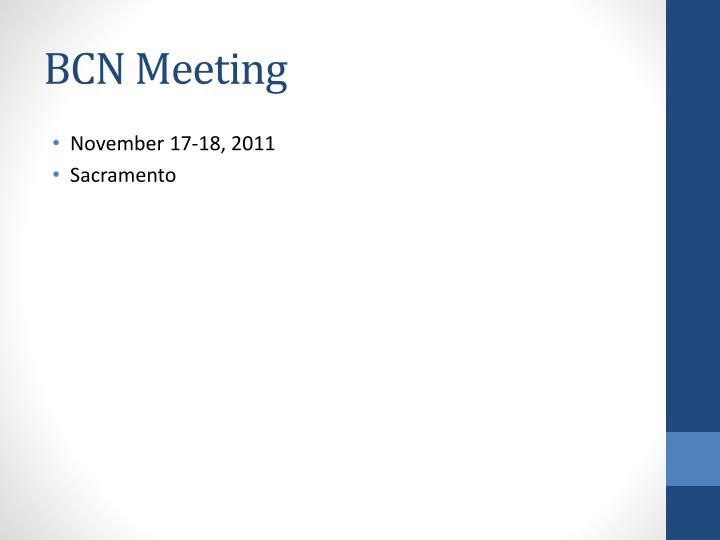 BCN Meeting