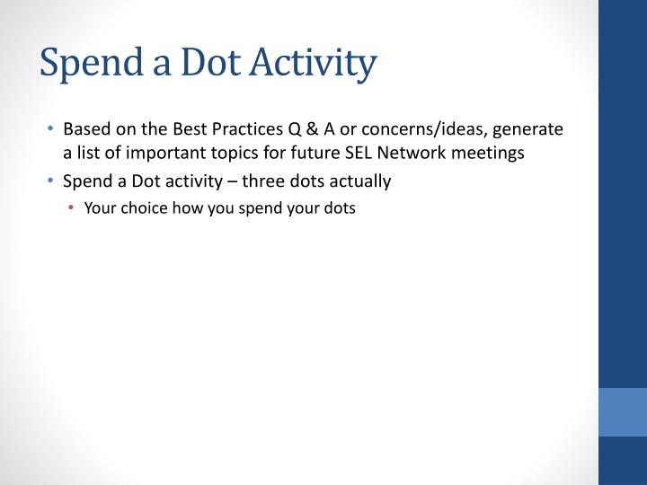 Spend a Dot Activity