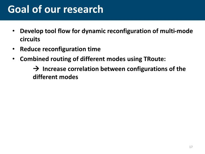 Goal of our research
