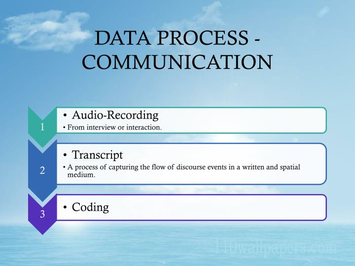 DATA PROCESS - COMMUNICATION