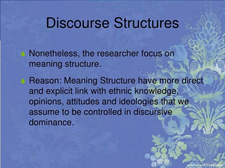 Discourse Structures