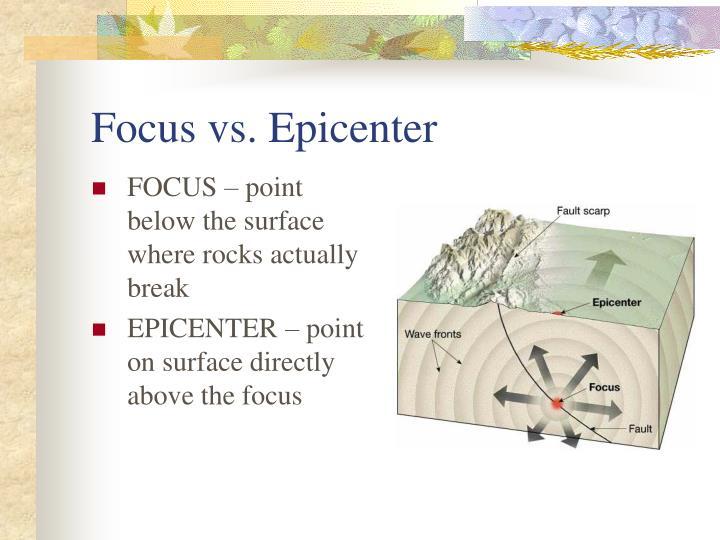Focus vs. Epicenter