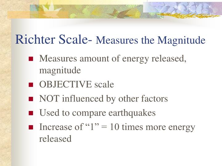Richter Scale-