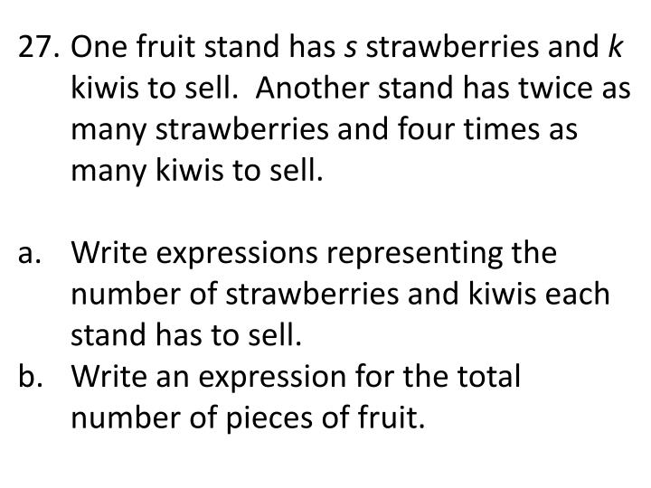 One fruit stand
