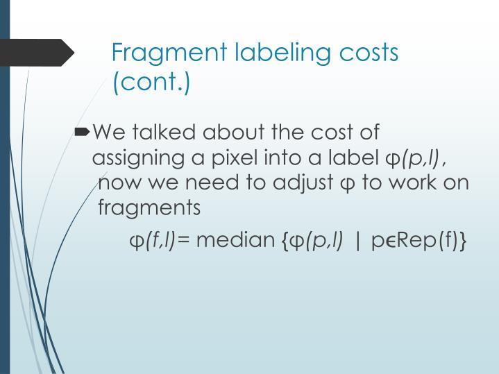 Fragment labeling