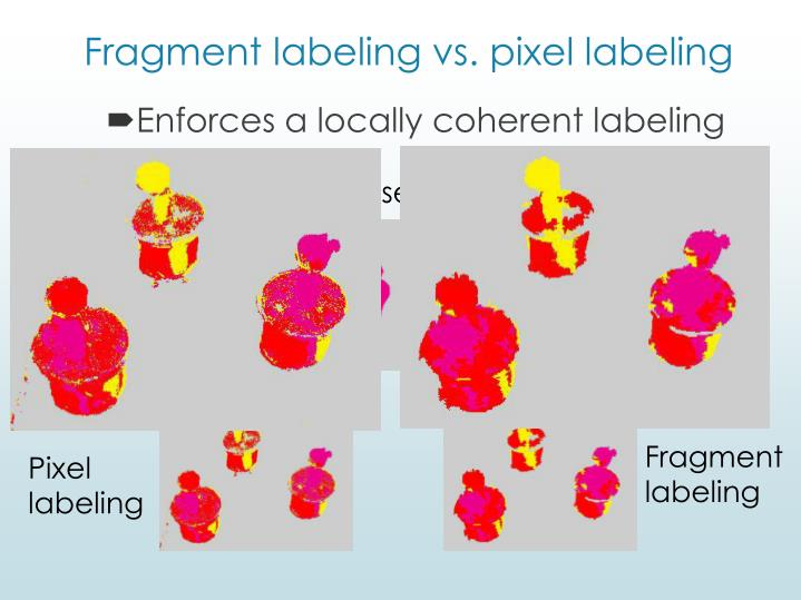 Fragment labeling vs. pixel labeling