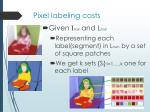 pixel labeling costs