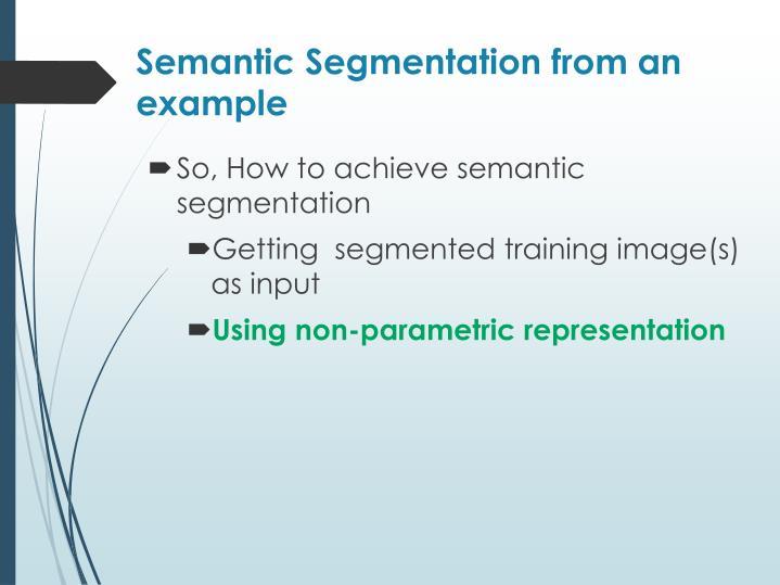 Semantic Segmentation from