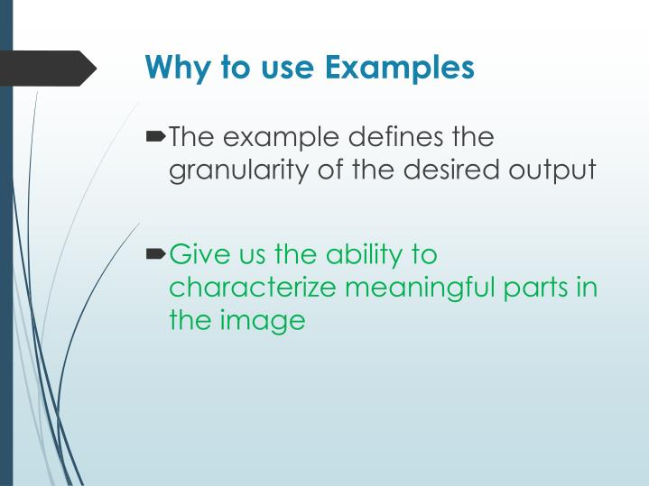Why to use Examples