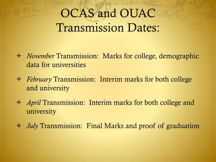 OCAS and OUAC