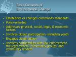 basic concepts of environmental change