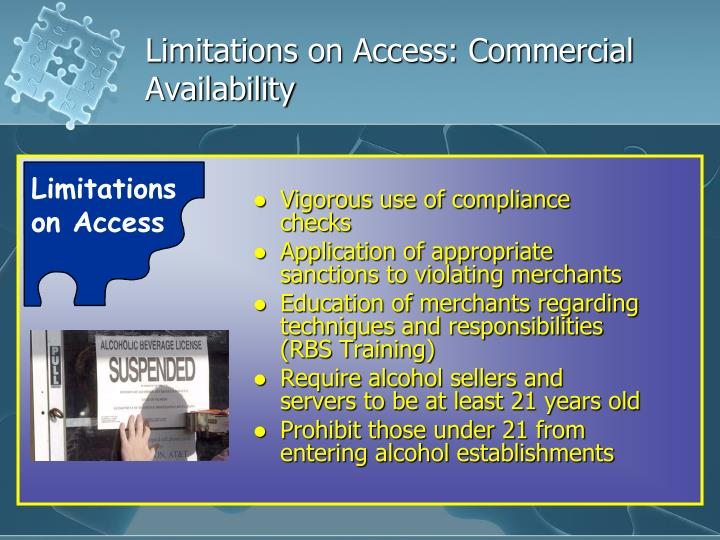 Limitations on Access: Commercial Availability