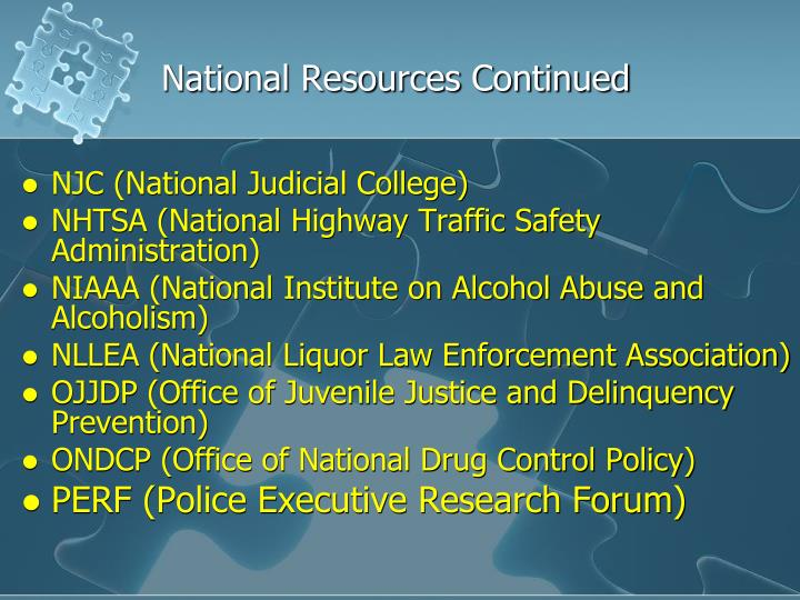 National Resources Continued