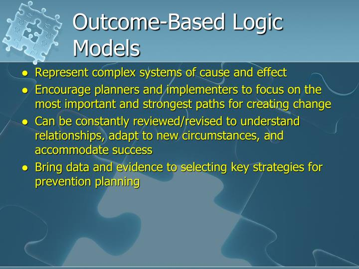Outcome-Based Logic Models