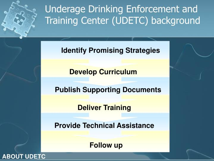 Underage Drinking Enforcement and Training Center (UDETC) background