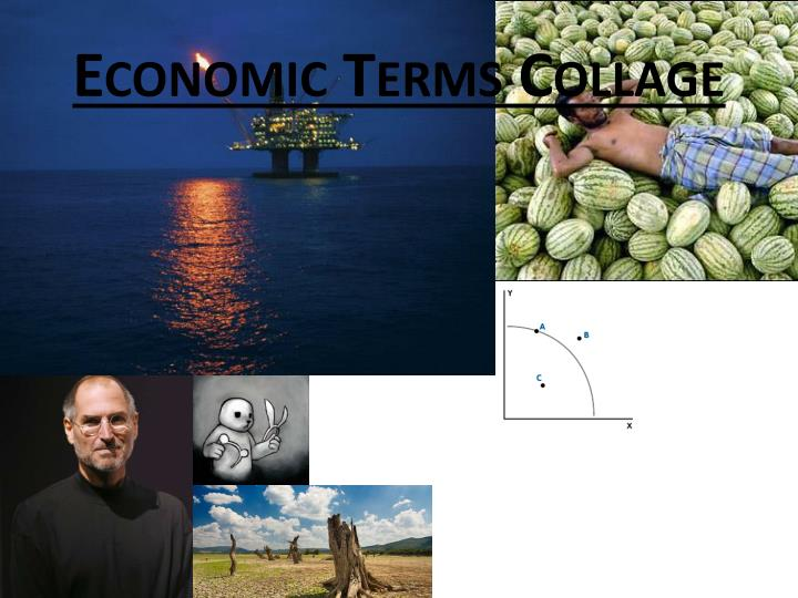 Economic terms collage