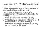 assessment 1 writing assignment