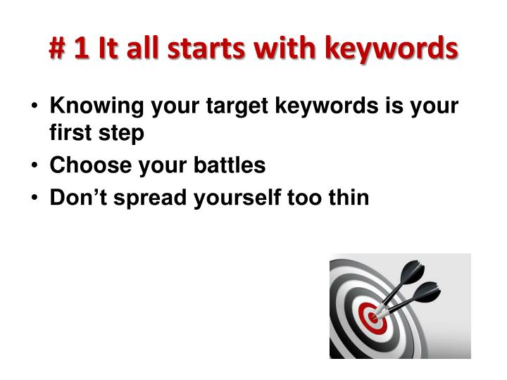 # 1 It all starts with keywords