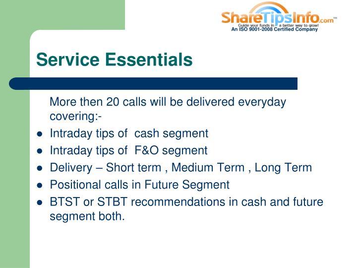 Service Essentials