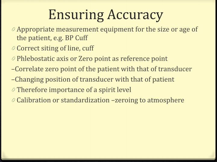 Ensuring Accuracy