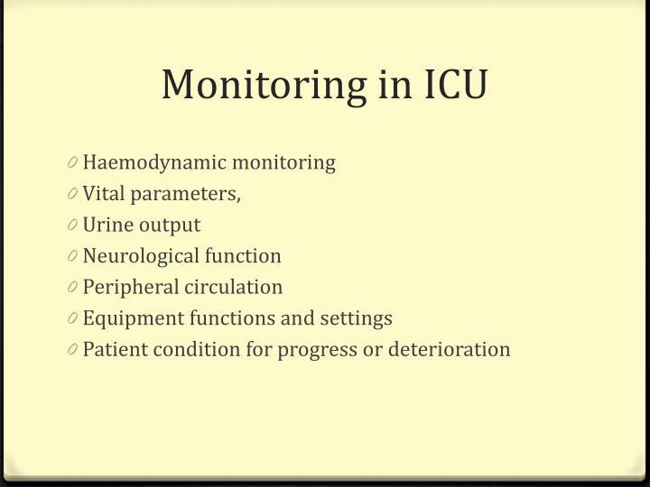Monitoring in ICU