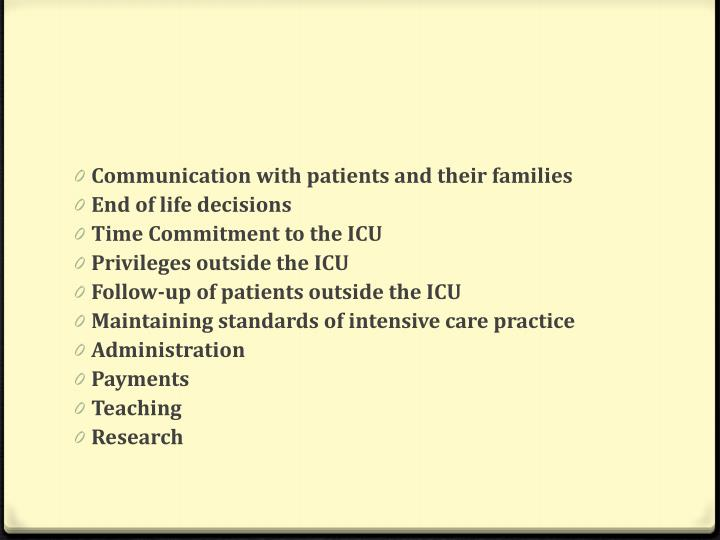 Communication with patients and their families