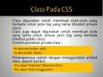 class pada css