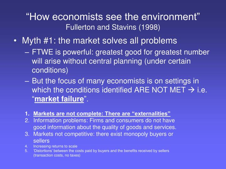 """How economists see the environment"""