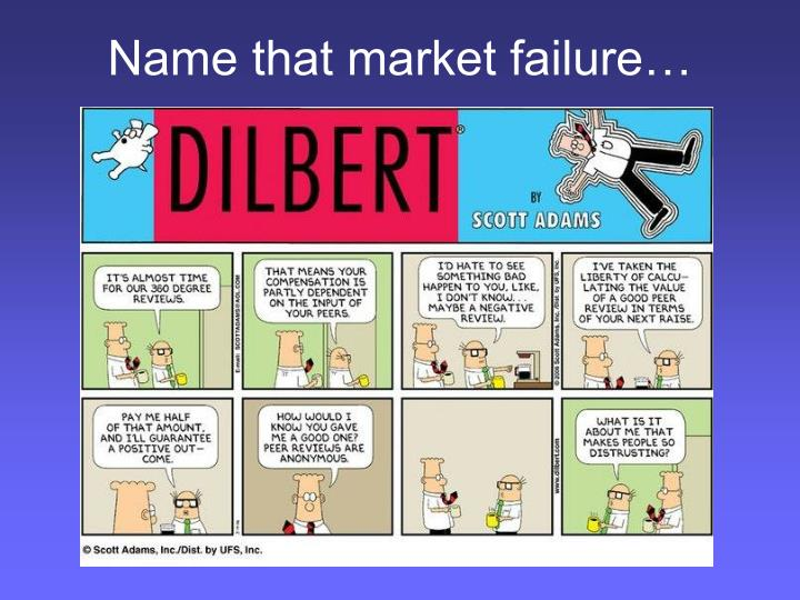Name that market failure…