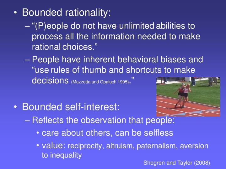 Bounded rationality: