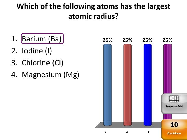 Which of the following atoms has the largest