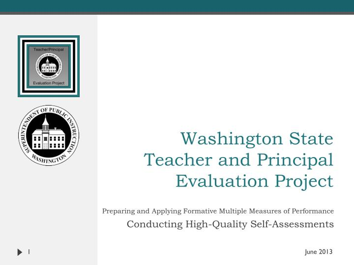 washington state teacher and principal evaluation project