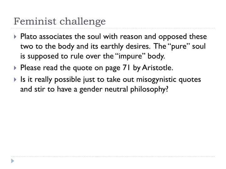 Feminist challenge