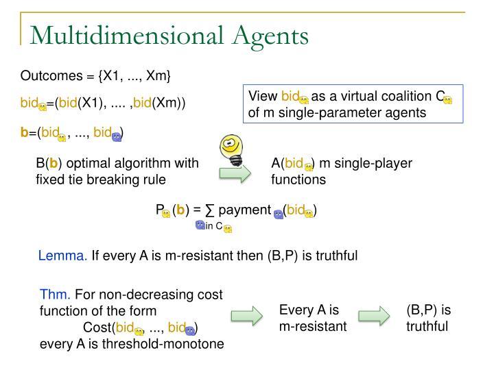 Multidimensional Agents
