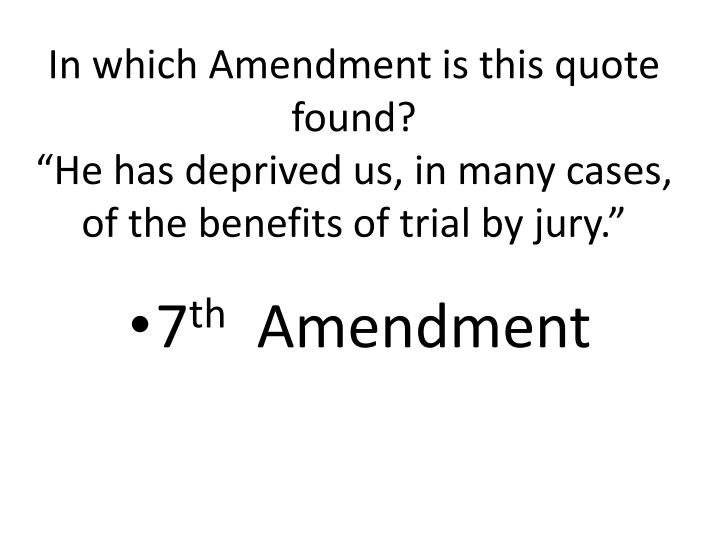 In which Amendment is this quote found?