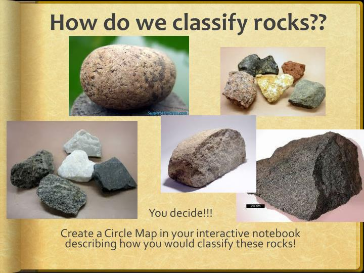 How do we classify rocks??