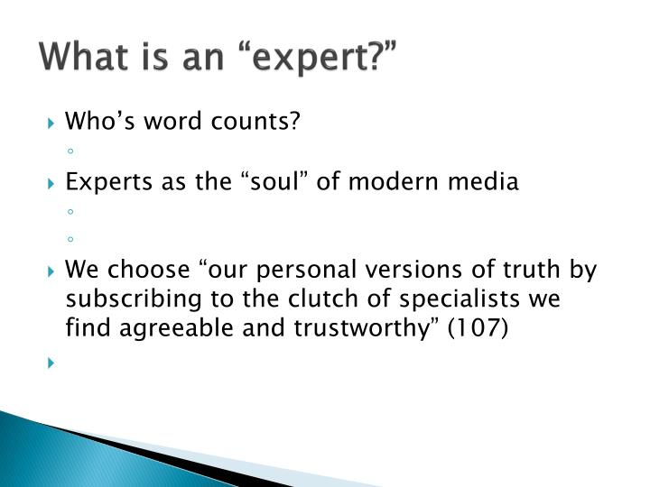 what is an expert