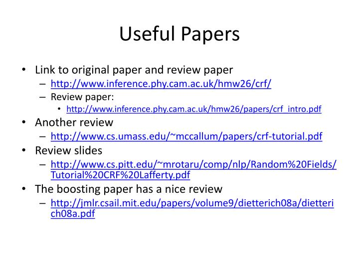 Useful Papers