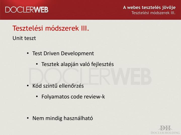 A webes tesztelés jövője