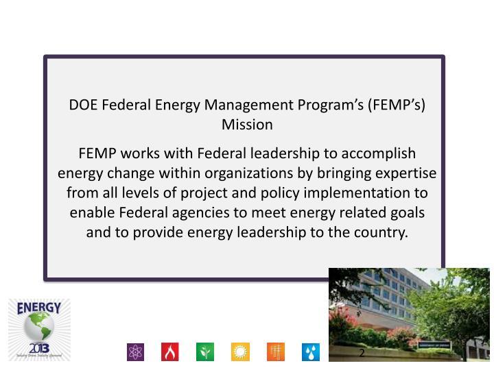 DOE Federal Energy Management Program's (