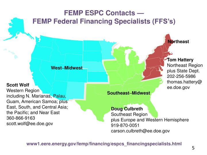 FEMP ESPC Contacts