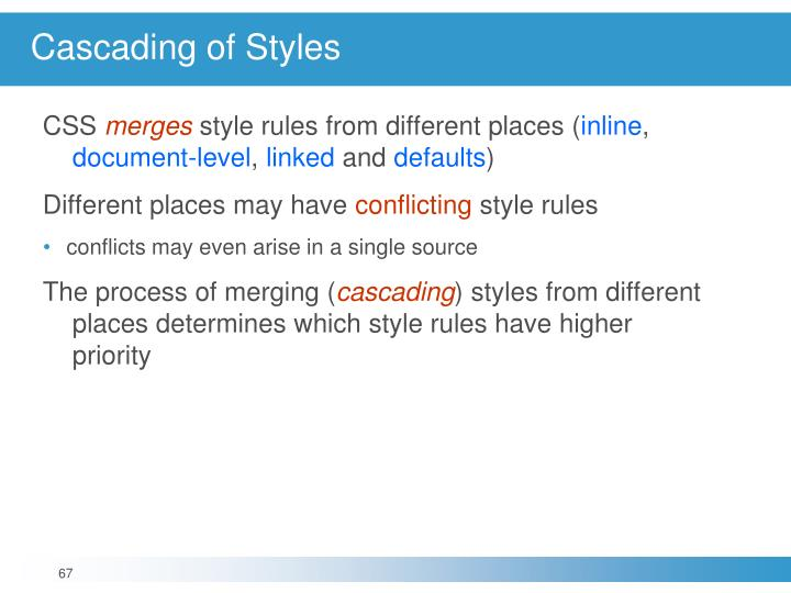 Cascading of Styles