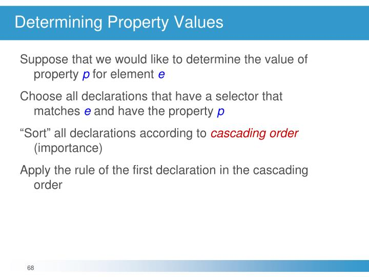 Determining Property Values