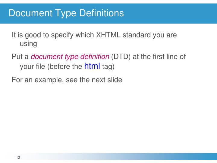 Document Type Definitions