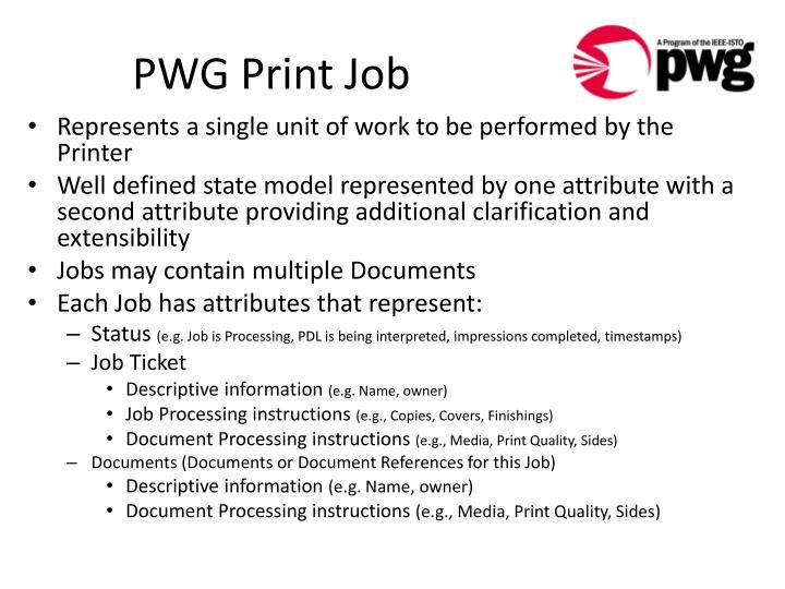PWG Print Job