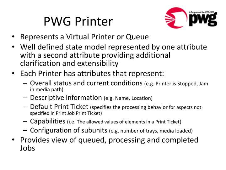 PWG Printer